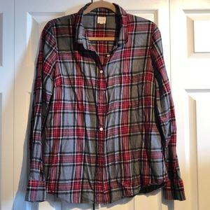 J. Crew Flannel Shirt in size Large